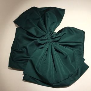 Tops - Hunter green bow front tube top